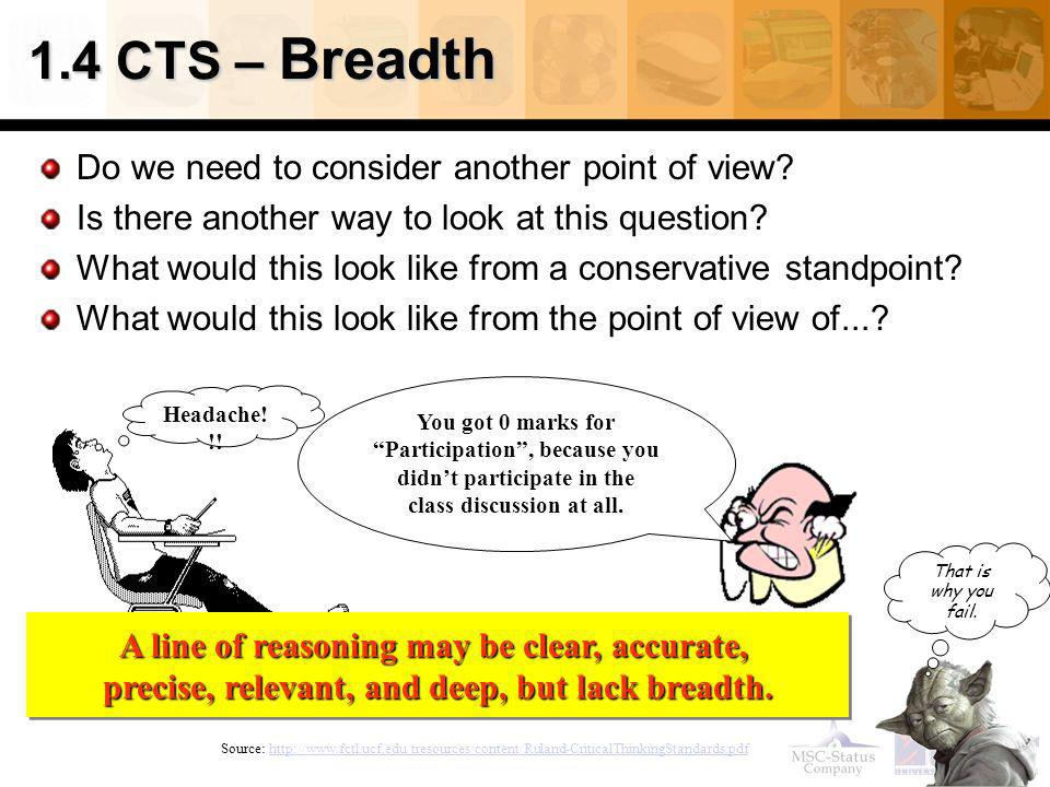 1.4 CTS – Breadth Do we need to consider another point of view