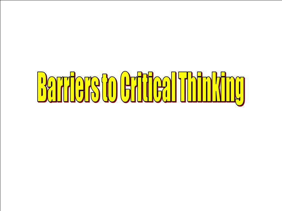 Introduction to critical thinking ppt