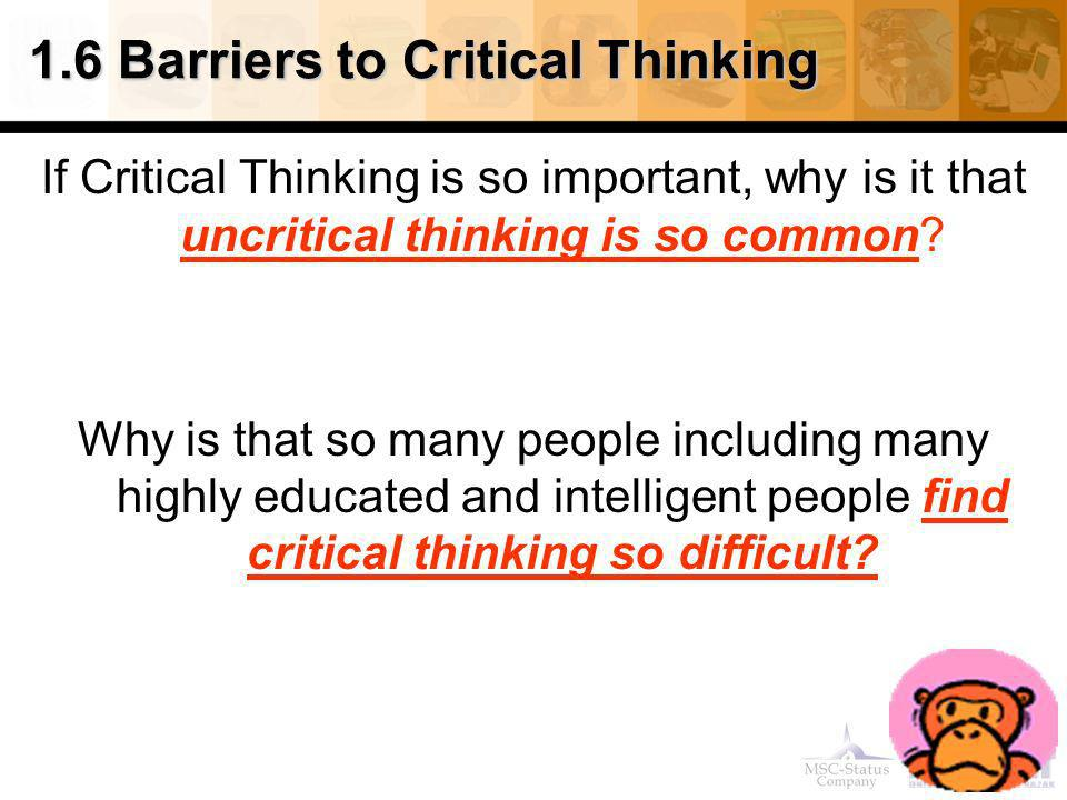 barriers to critical thinking essay