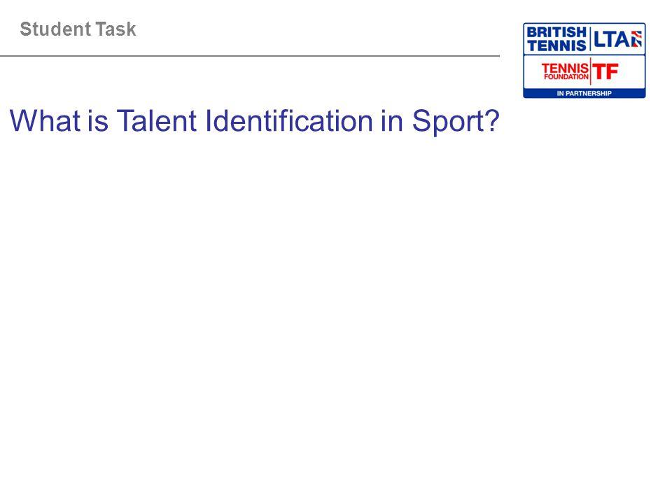 What is Talent Identification in Sport