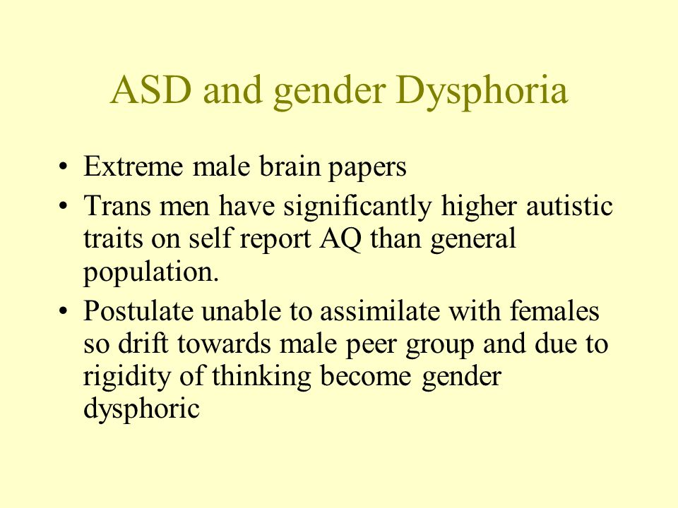 ASD and gender Dysphoria