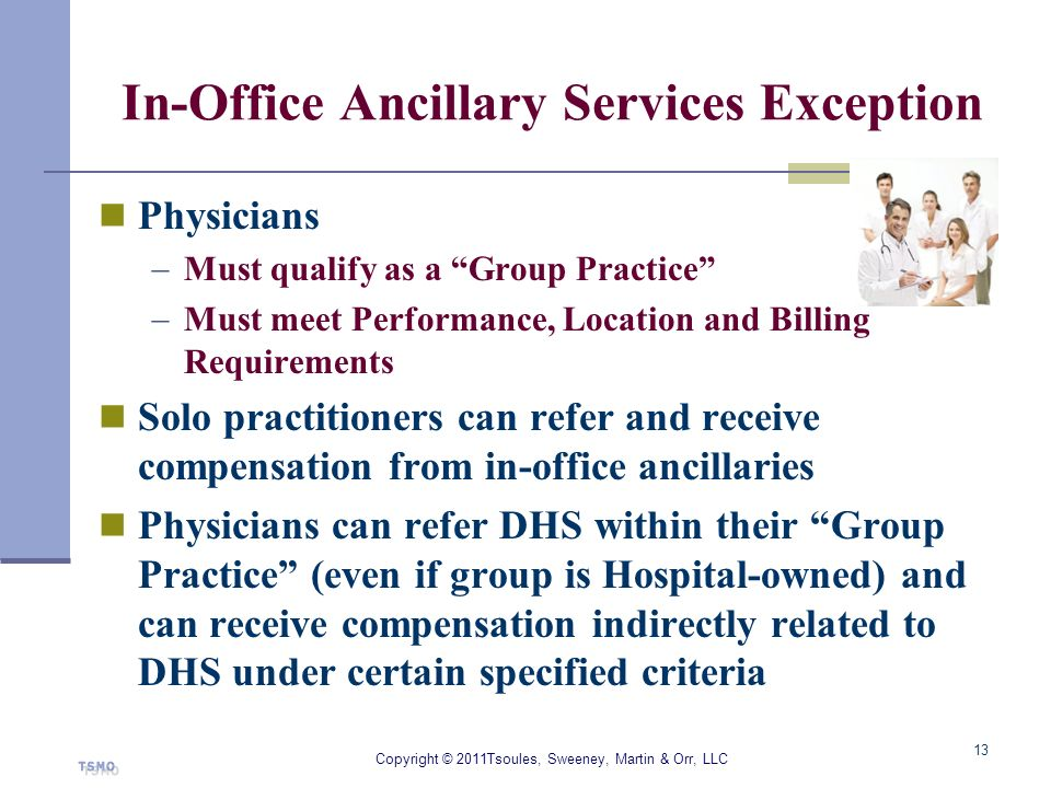 In-Office Ancillary Services Exception