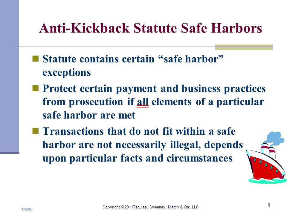 Anti-Kickback Statute Safe Harbors