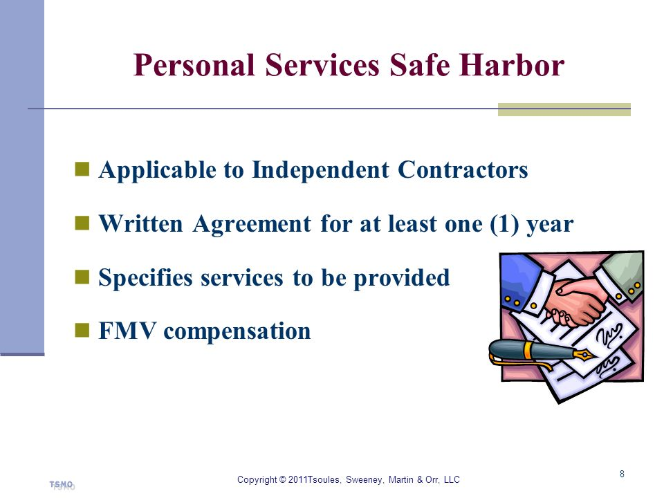 Personal Services Safe Harbor