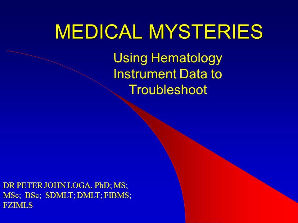 Using Hematology Instrument Data to Troubleshoot