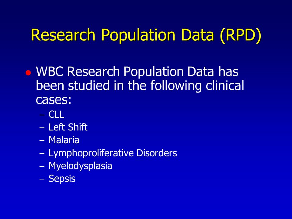 Research Population Data (RPD)