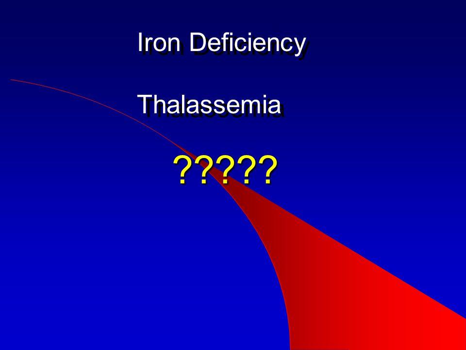 Iron Deficiency Thalassemia