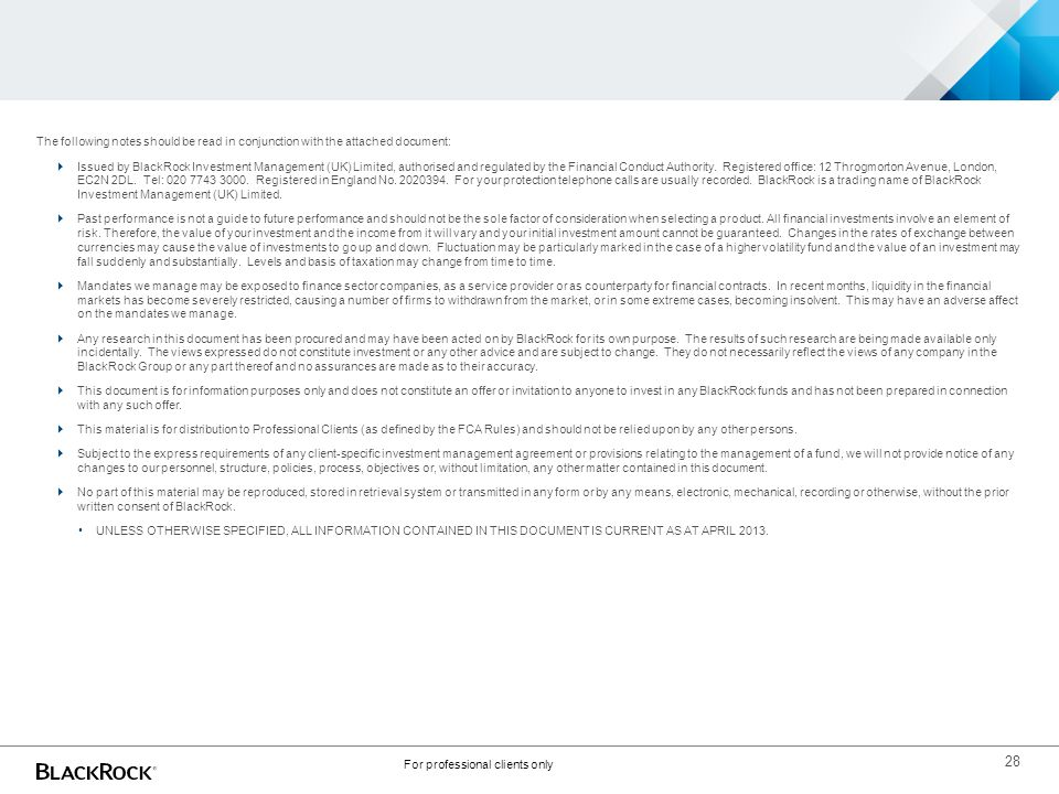 For professional clients only