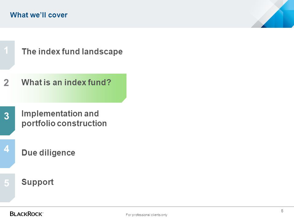 Fund manager purchases securities to represent the index