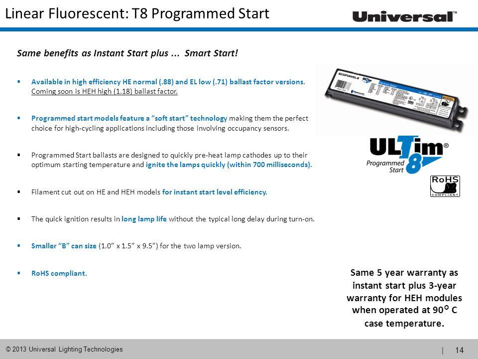 Linear Fluorescent: T8 Programmed Start