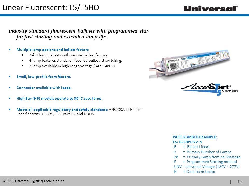 Linear Fluorescent: T5/T5HO