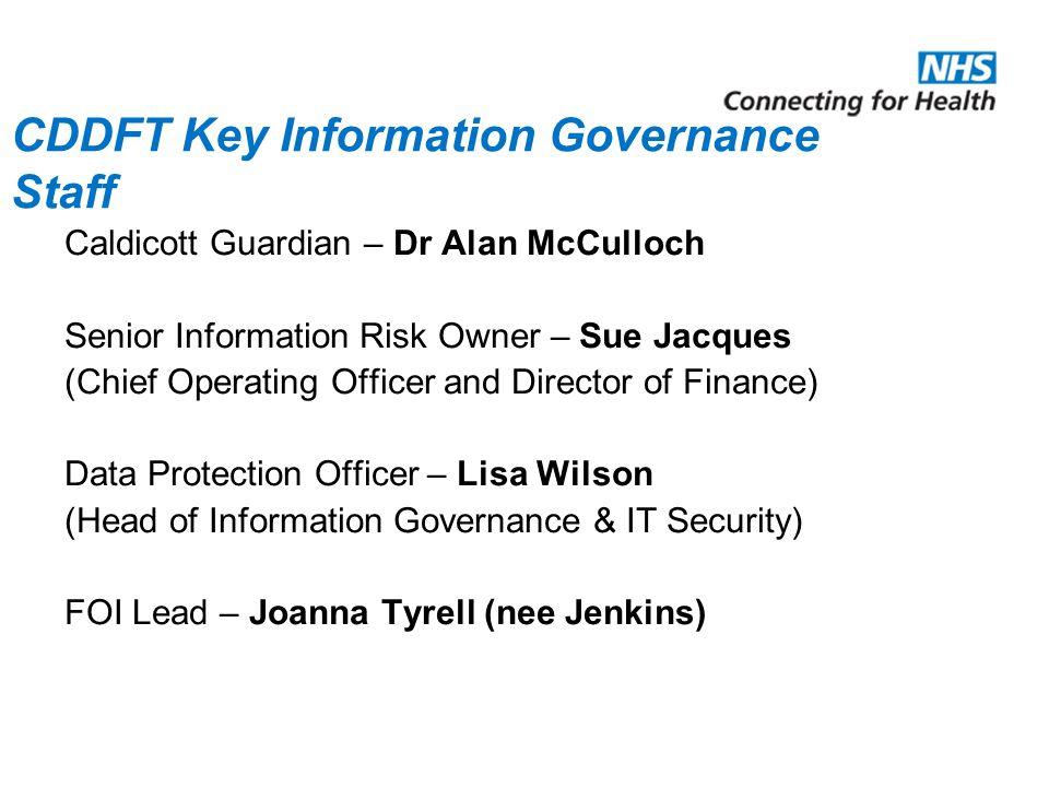 CDDFT Key Information Governance Staff
