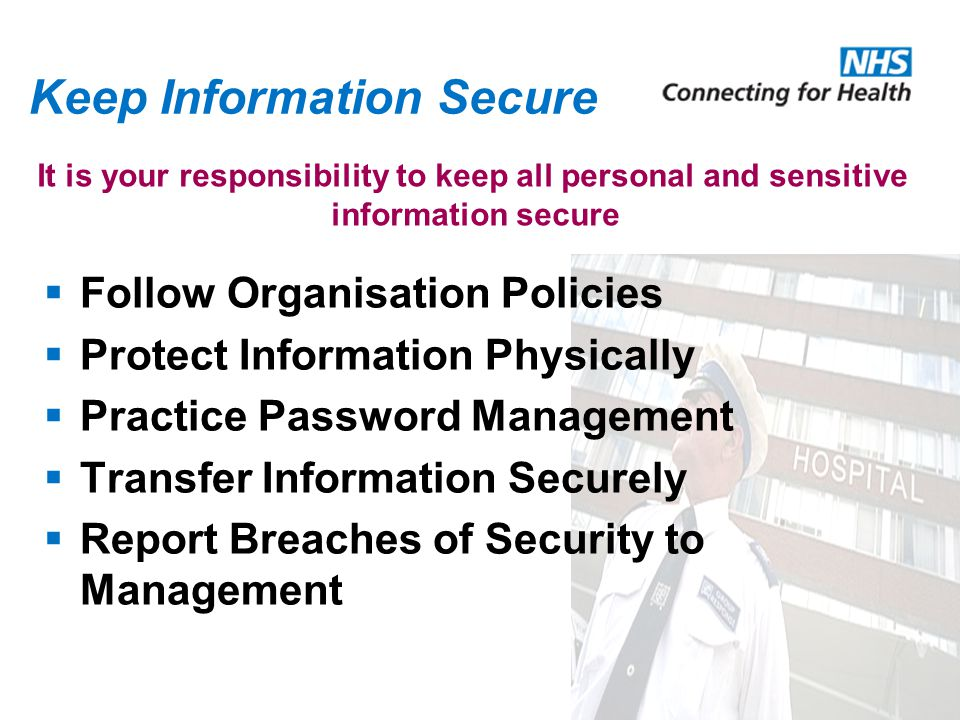 Keep Information Secure