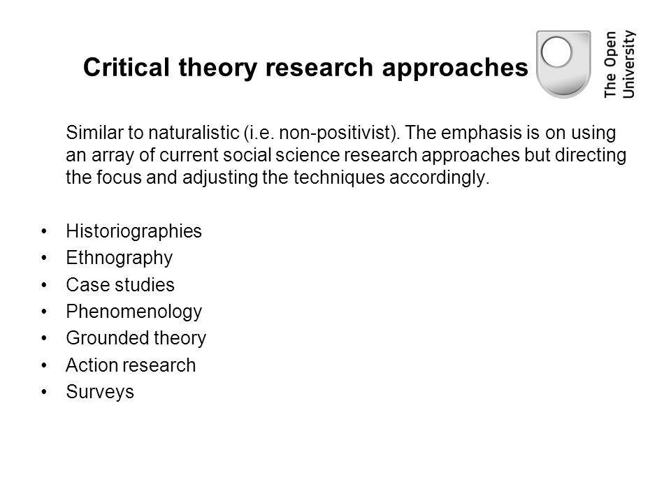 Critical theory research approaches