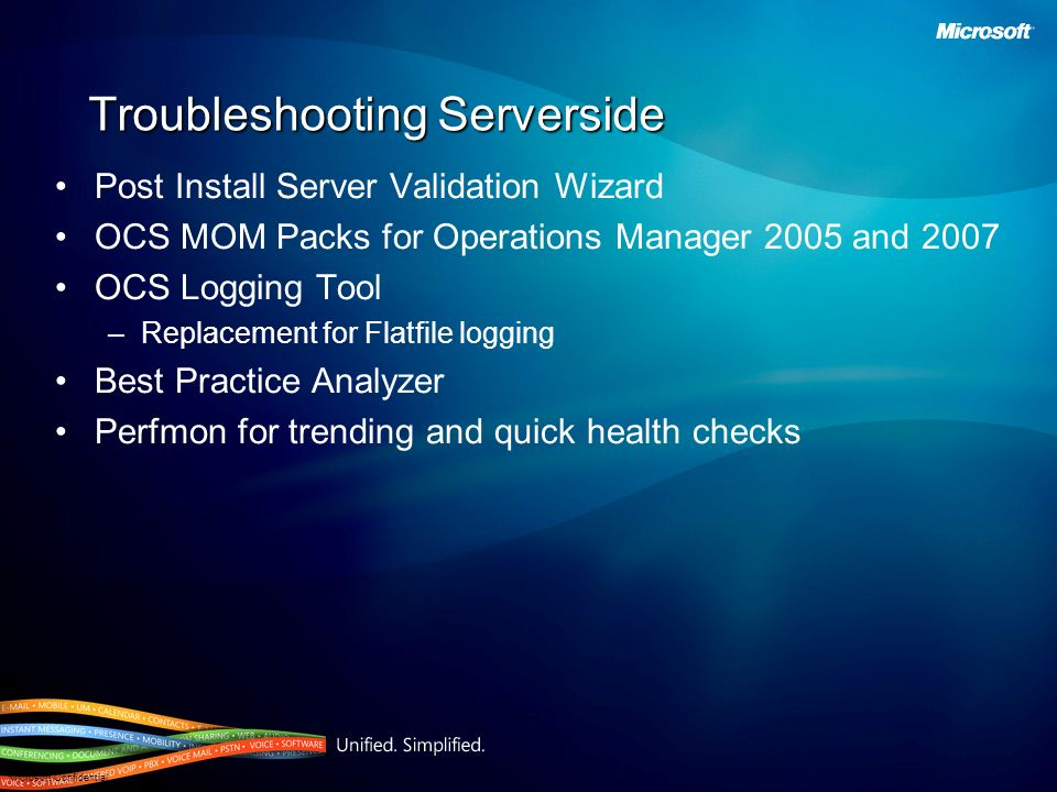 Troubleshooting Serverside