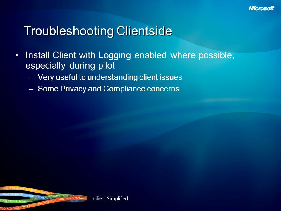 Troubleshooting Clientside