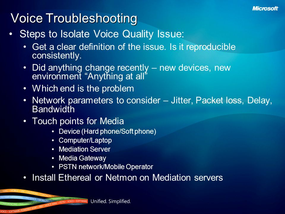 Voice Troubleshooting
