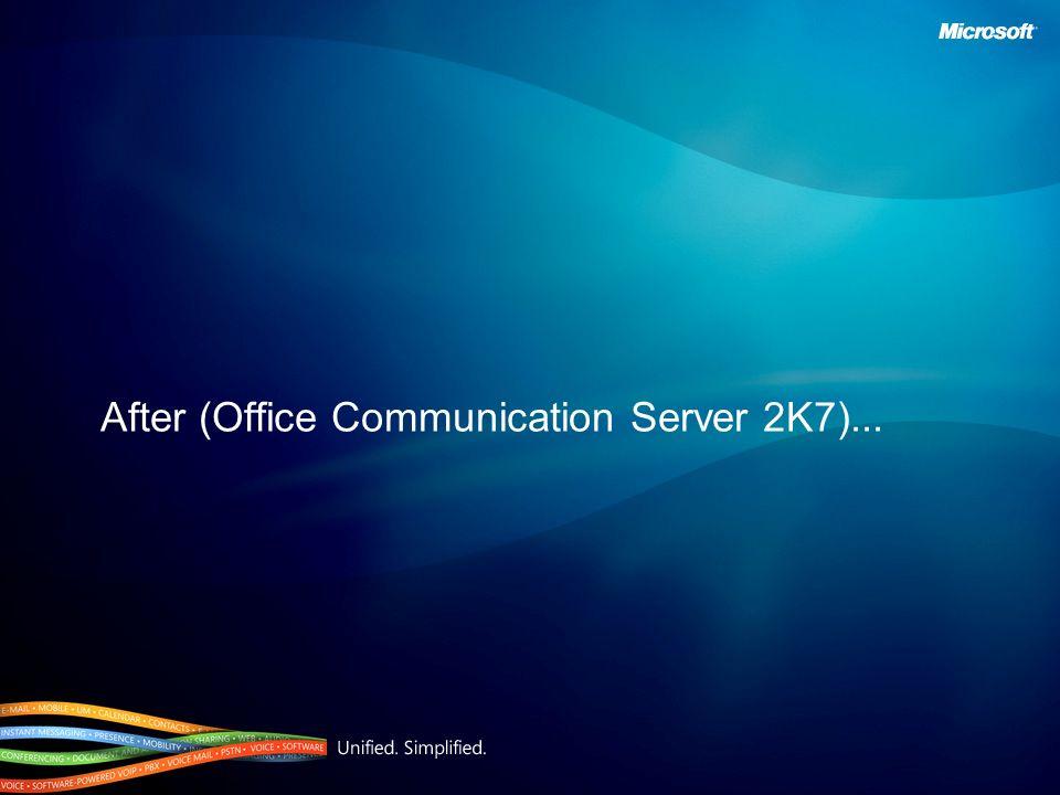 After (Office Communication Server 2K7)...