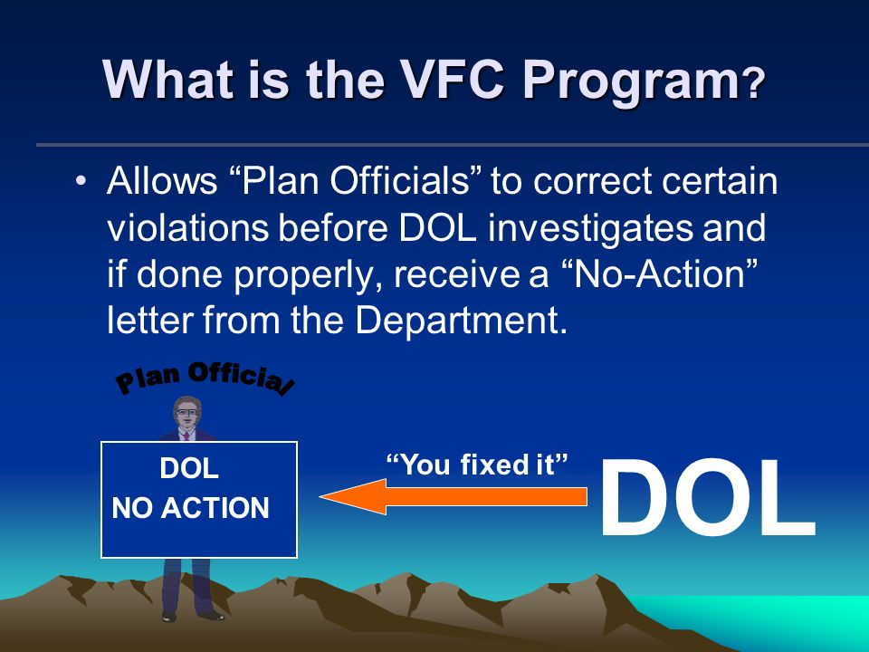DOL What is the VFC Program