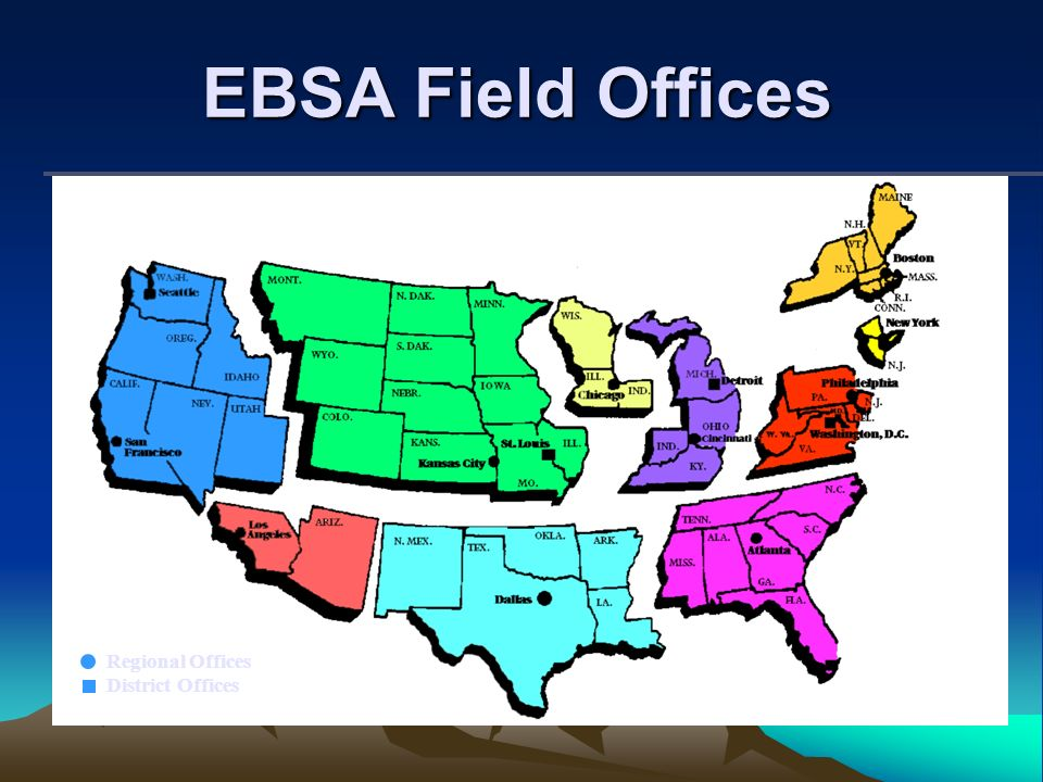 EBSA Field Offices Regional Offices District Offices