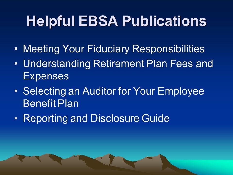 Helpful EBSA Publications