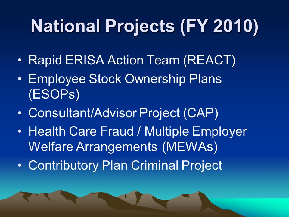 National Projects (FY 2010)