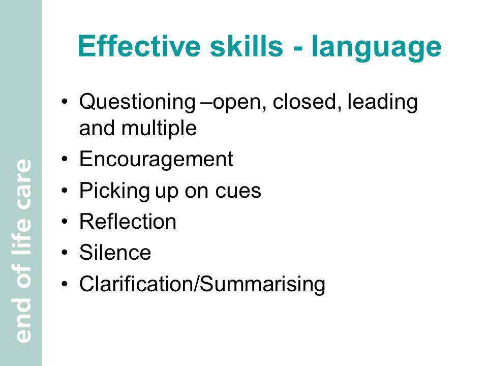 Effective skills - language