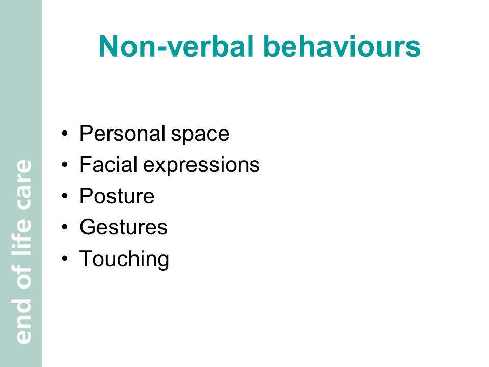 Non-verbal behaviours