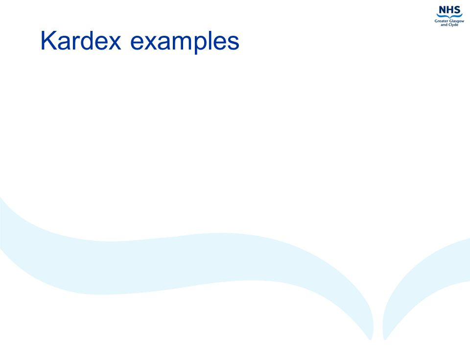 Kardex examples