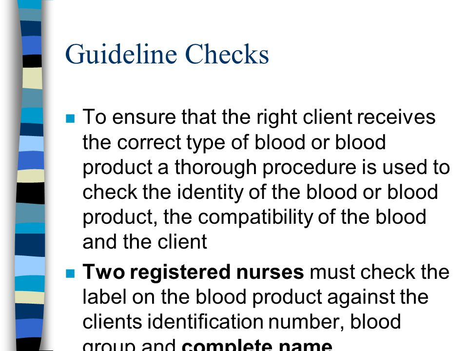 Guideline Checks