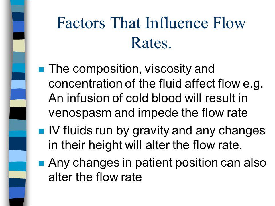 Factors That Influence Flow Rates.