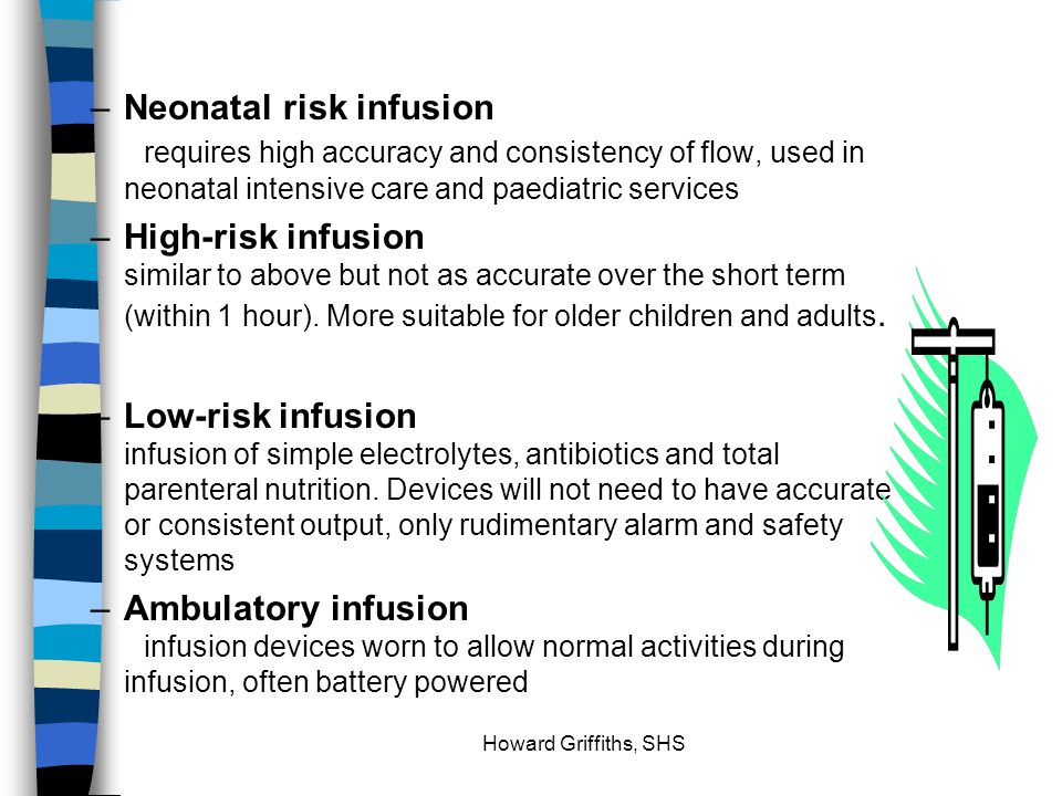 Neonatal risk infusion