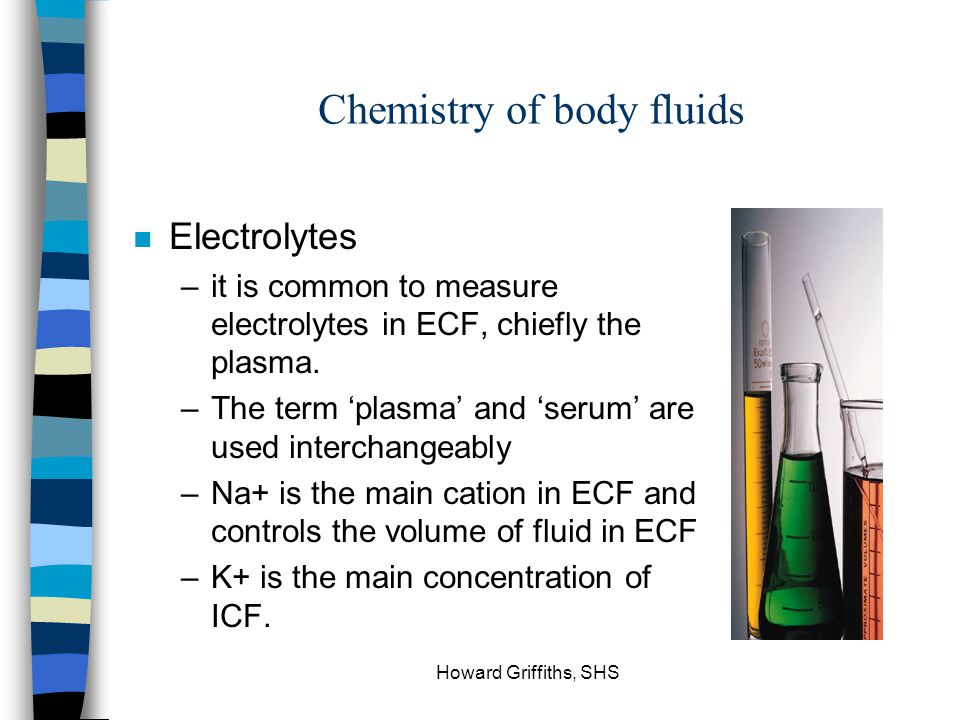 Chemistry of body fluids