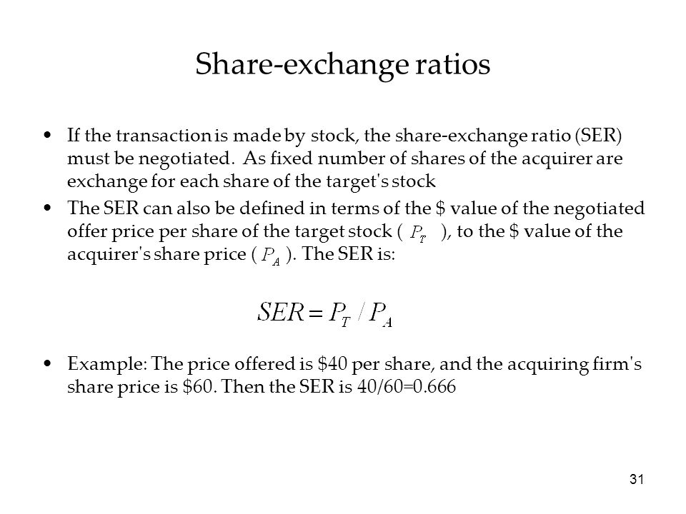 Share-exchange ratios