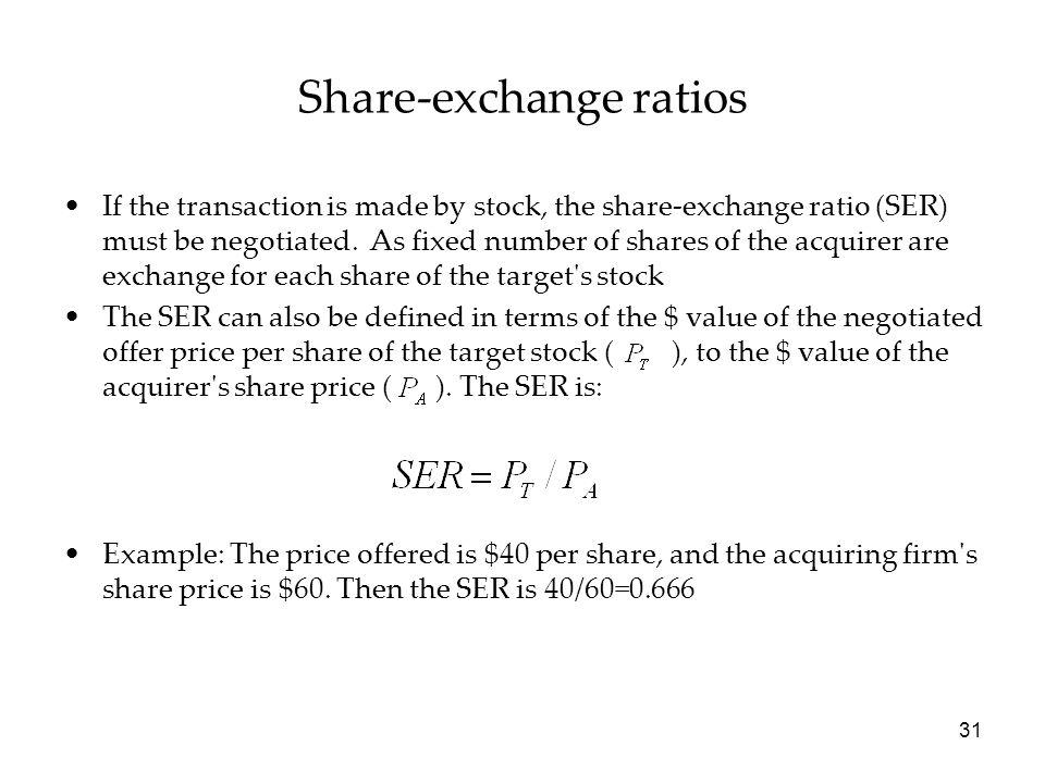Share-exchange ratios