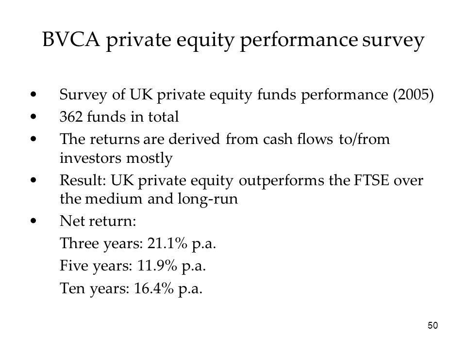 BVCA private equity performance survey
