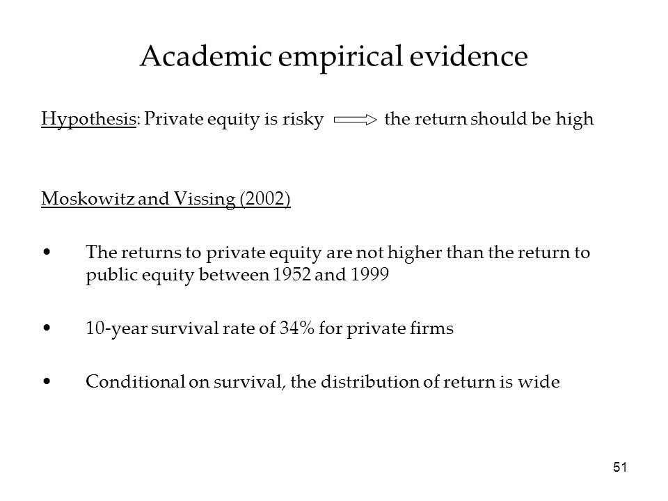 Academic empirical evidence
