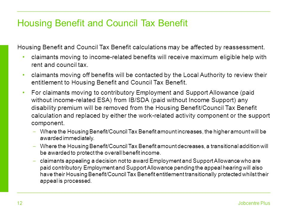 Housing Benefit and Council Tax Benefit