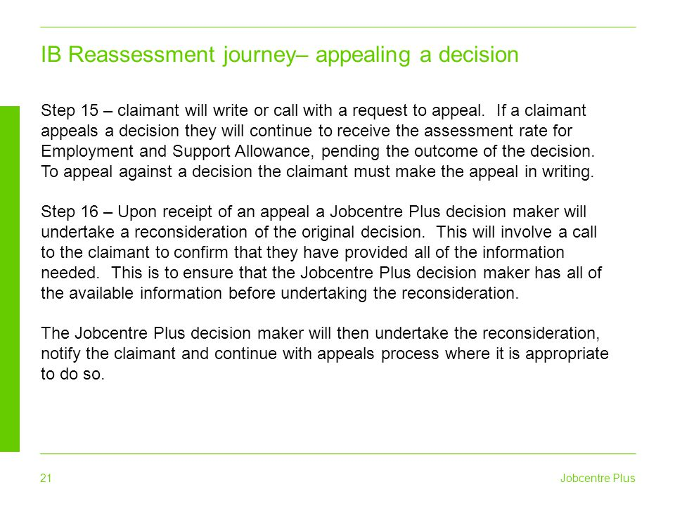 IB Reassessment journey– appealing a decision