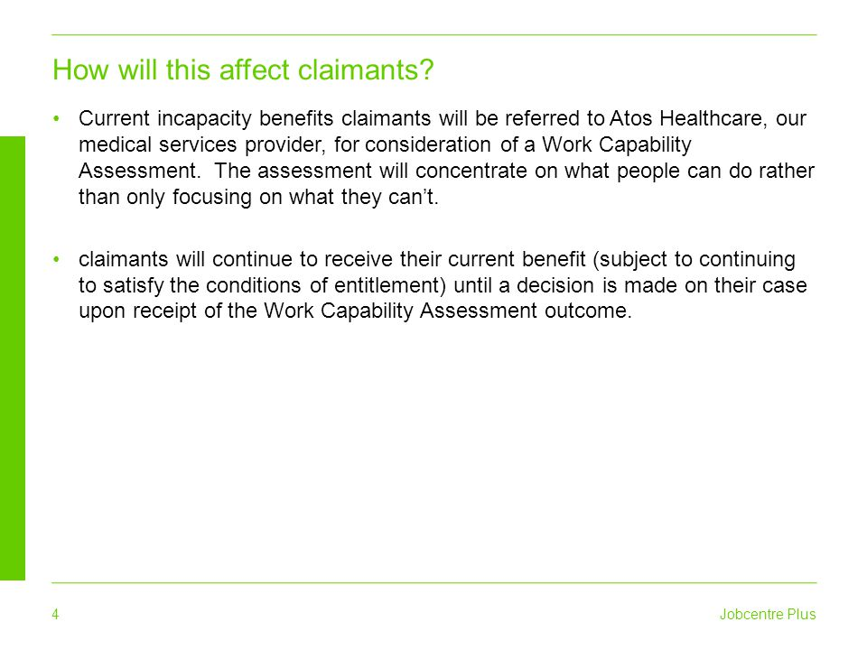 How will this affect claimants