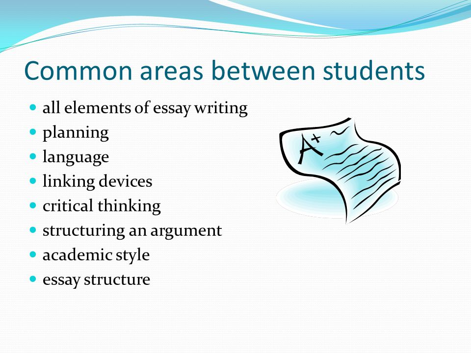 Common areas between students