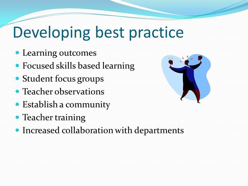 Developing best practice
