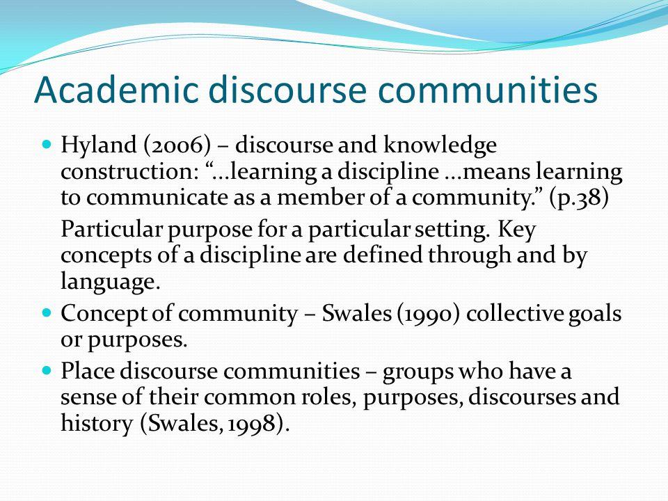 Academic discourse communities