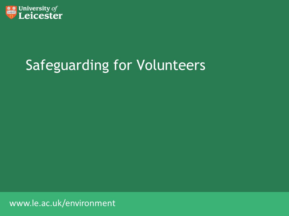Safeguarding for Volunteers