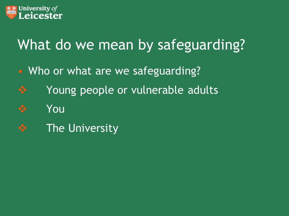 What do we mean by safeguarding