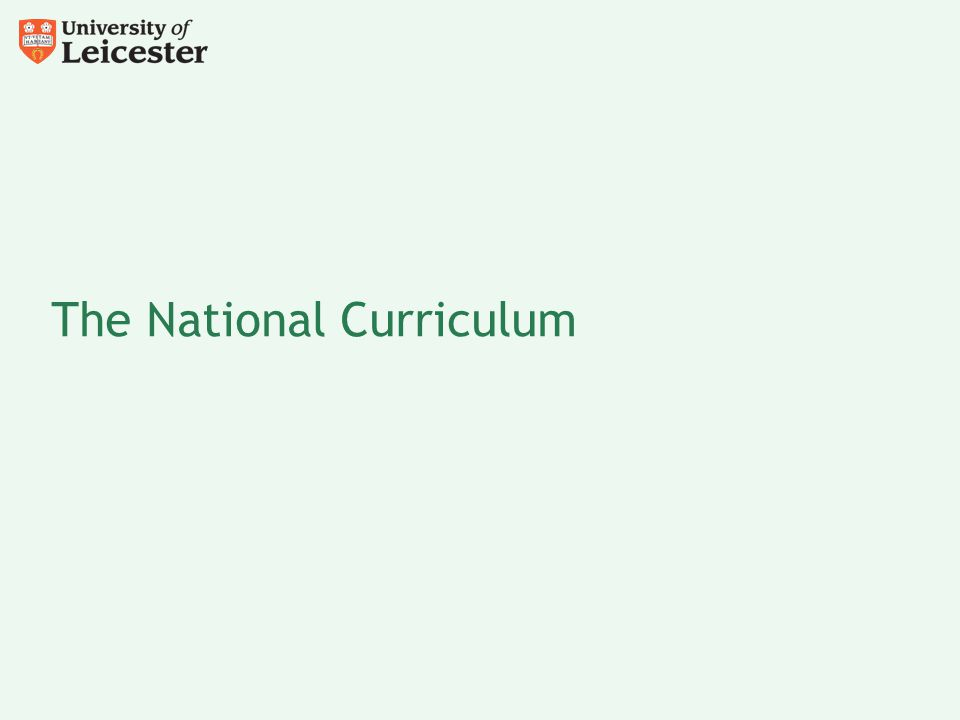The National Curriculum