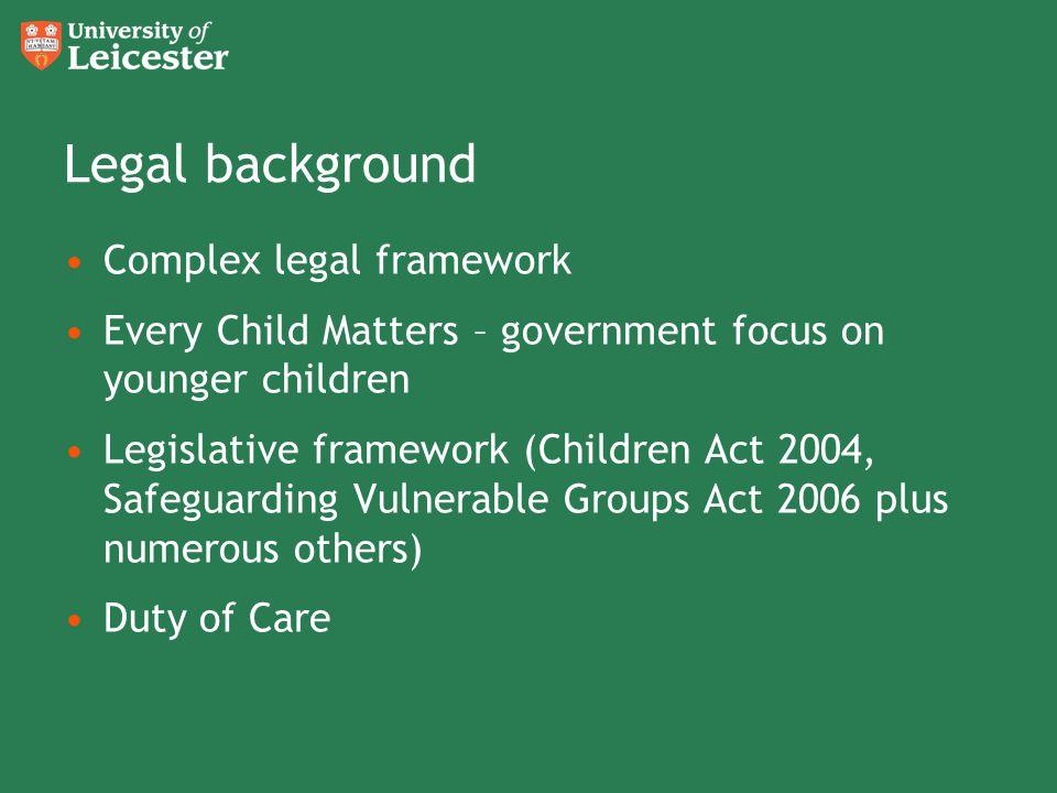 Legal background Complex legal framework