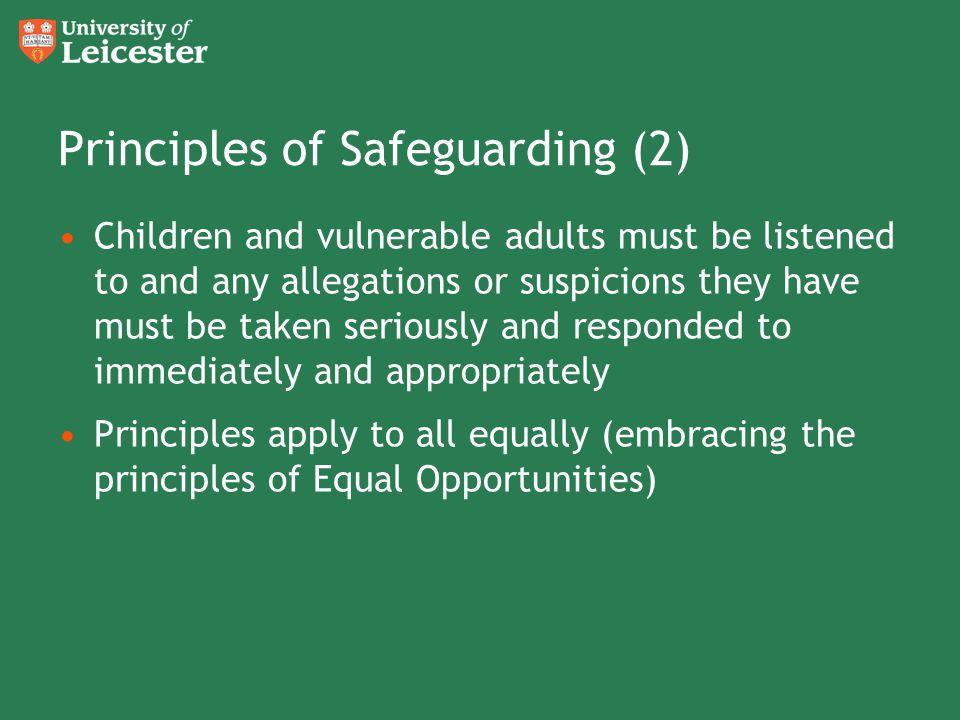 Principles of Safeguarding (2)