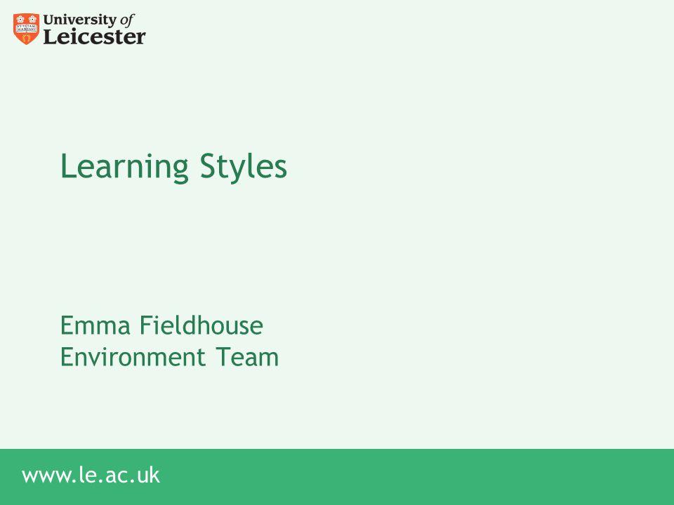 Emma Fieldhouse Environment Team