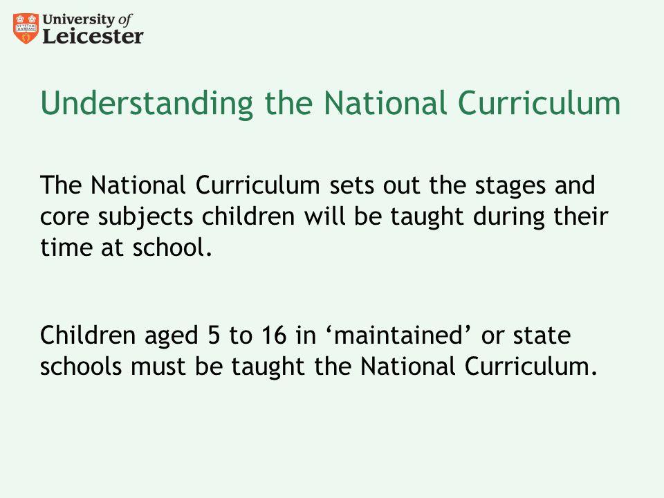 Understanding the National Curriculum